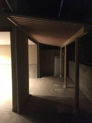 木製の駐輪場 完成です
